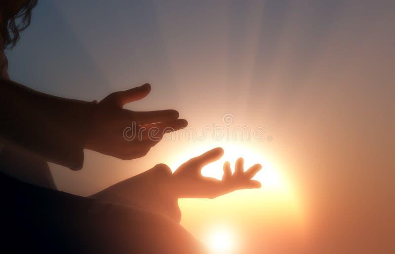 Die Hände stock abbildung