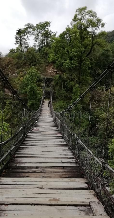 Die hängende Brücke stockbild
