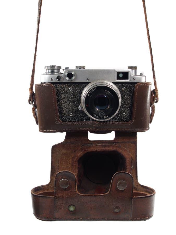 Die hängende Kamera lizenzfreies stockbild
