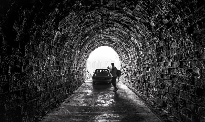 Die Höhle von Ain Beni Add stockbilder