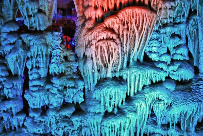 Die Höhlen-Reise Soreq Avshalom in Israel stockfotos