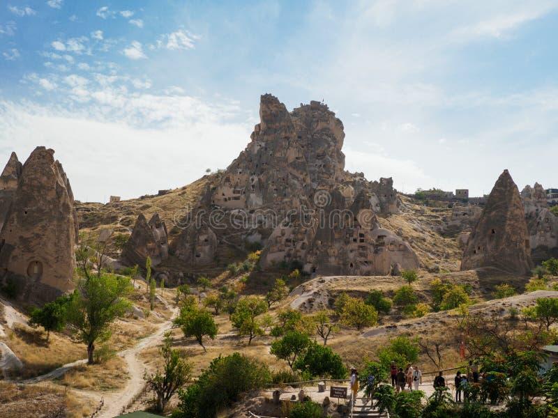 Die Höhlenstadt von Goreme, Cappadocia, Nevsehir-Provinz, zentrale Anatolia Region von der Türkei stockbild