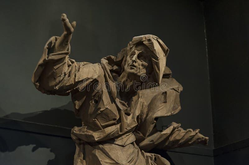 Die hölzerne Skulptur von Johann Georg Pinsel lizenzfreies stockfoto