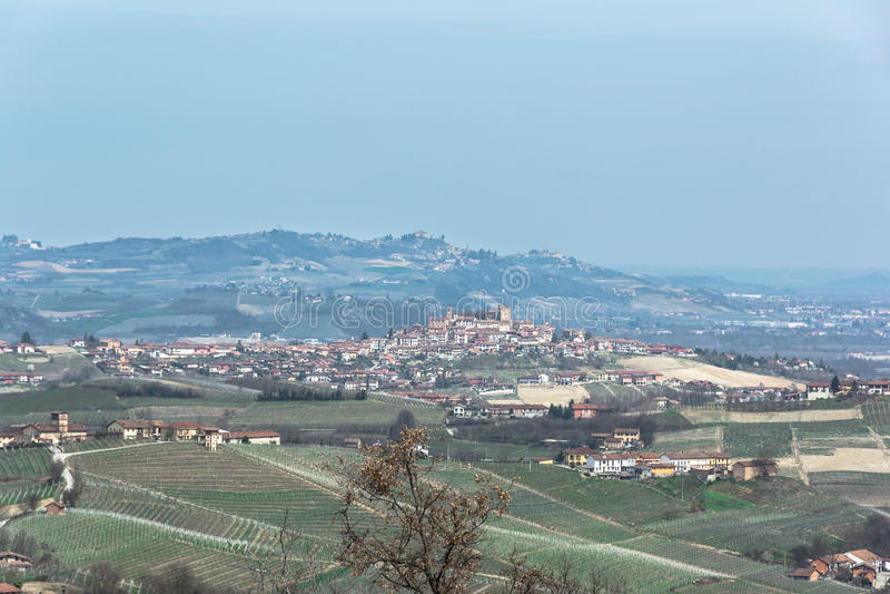 Die Hügel des Langhe, Italien stockfotografie