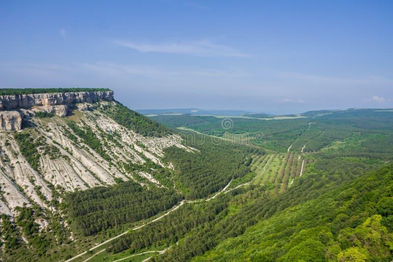 Die H?hlenstadt des Chufut-Kohls, Krim, Bakhchsarai-Bezirk stockfoto