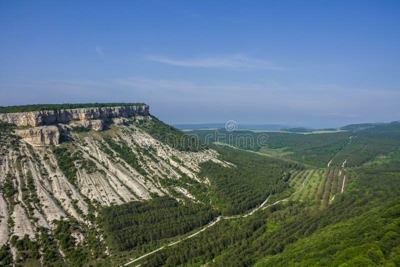 Die H?hlenstadt des Chufut-Kohls, Krim, Bakhchsarai-Bezirk stockfotografie