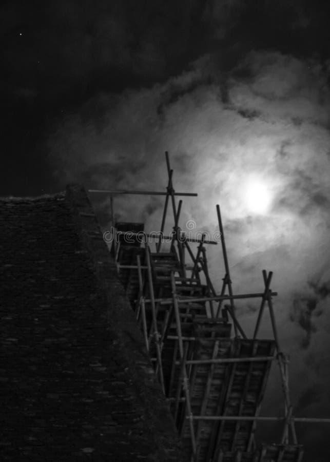 Die Halloween-Nacht stockbilder