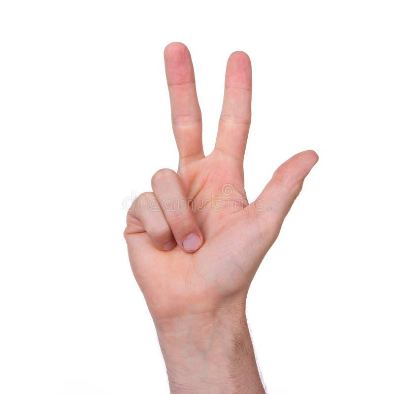 Download Die Hand Des Mannes Lokalisiert Stockfoto - Bild von richtung, punkt: 26361348