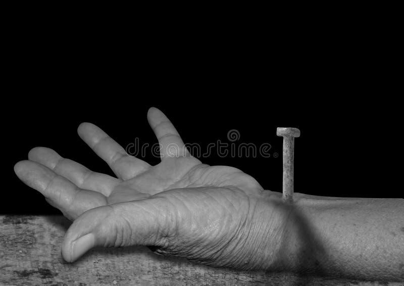 Die Hand von Jesus lizenzfreies stockbild