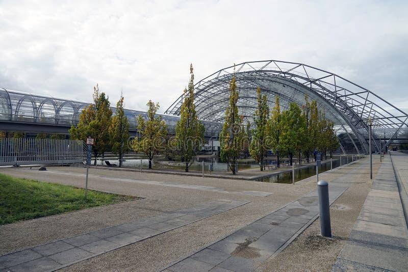 Die Handelsmesse Messe-Stadt Stadt Leipzig Deutschland Deutschland stockfotografie