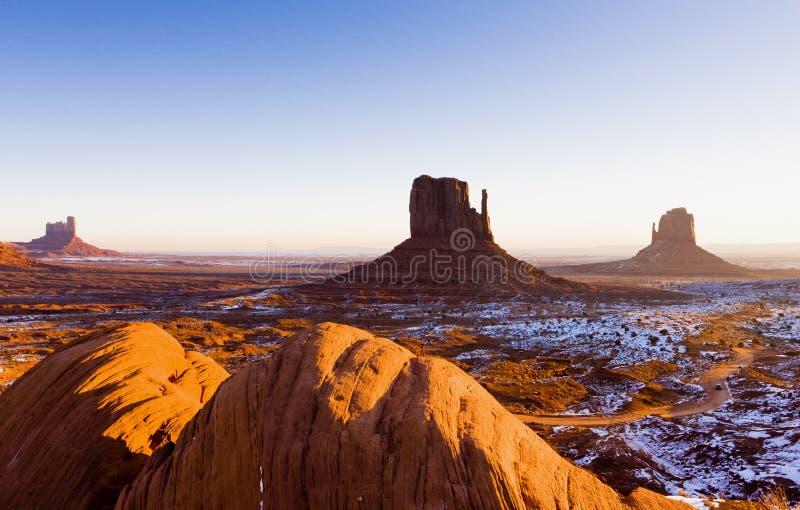 Die Handschuhe, Monument-Tal-Nationalpark, Utah-Arizona, USA lizenzfreie stockbilder