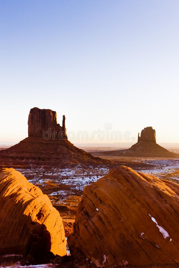 Die Handschuhe, Monument-Tal-Nationalpark, Utah-Arizona, USA lizenzfreies stockbild