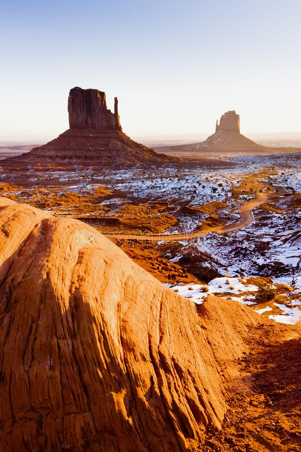 Die Handschuhe, Monument-Tal-Nationalpark, Utah-Arizona, USA lizenzfreie stockfotografie