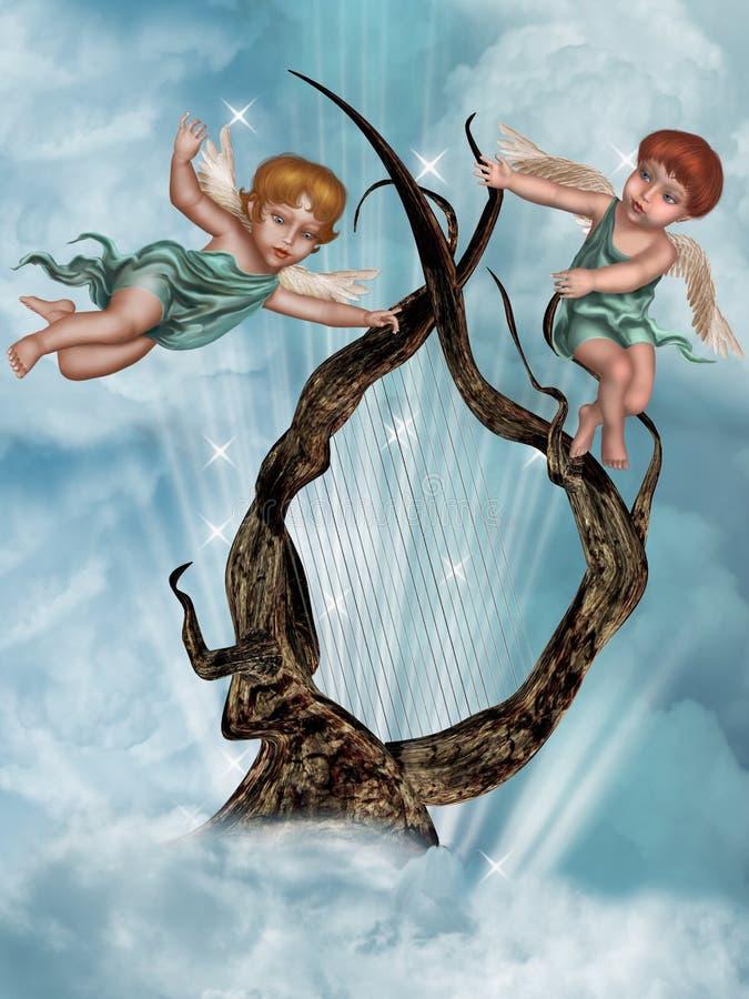 Die Harfe lizenzfreie abbildung