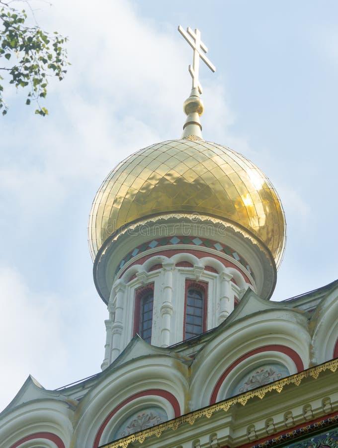 Die Haube der orthodoxen Kathedrale stockfotos
