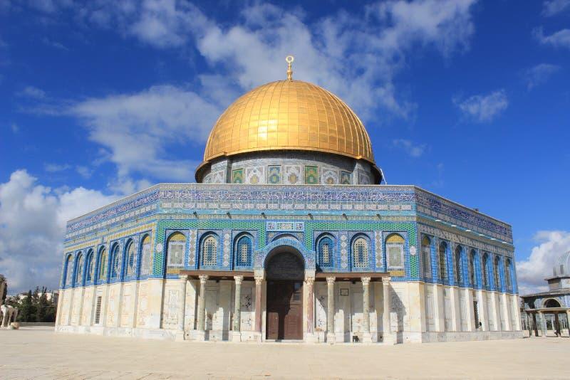 Die Haube des Felsens in Jerusalem stockbilder