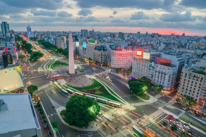 Die Hauptstadt von Buenos Aires in Argentinien stockfotos