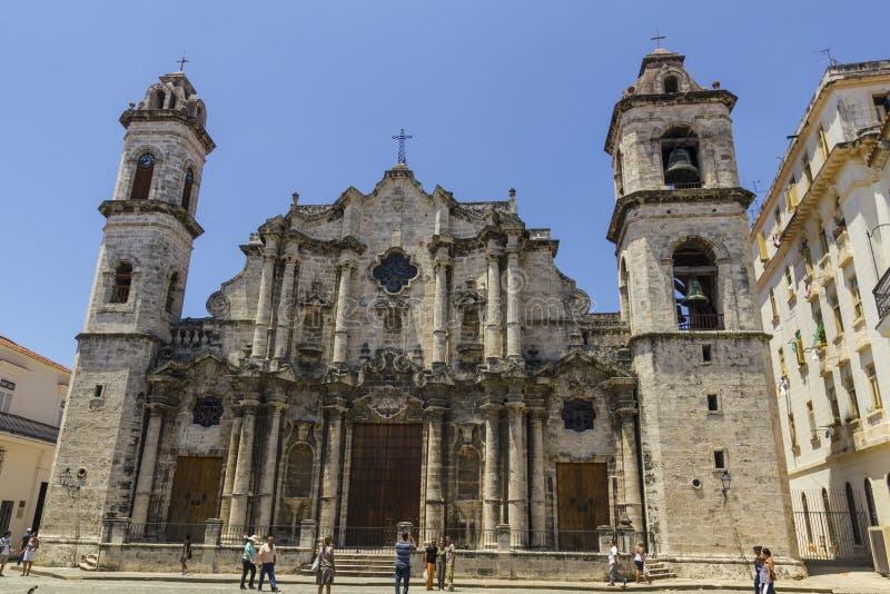Die Havana-Kathedrale in Kuba Versailles, Frankreich Es wird herein lokalisiert lizenzfreie stockfotos