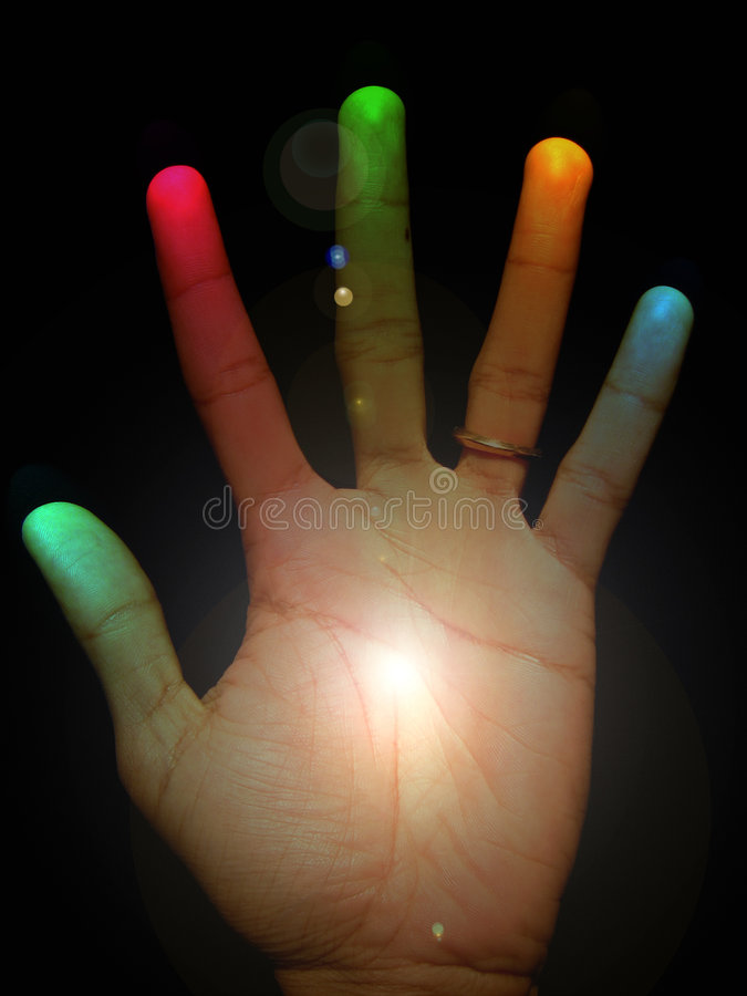 Die heilende Hand lizenzfreie abbildung