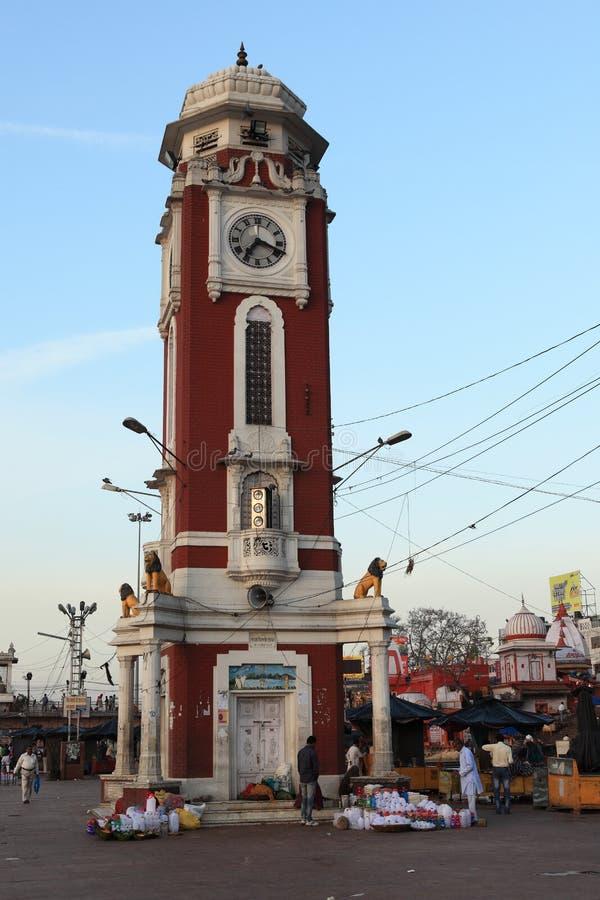 Die heilige Stadt von Haridwar stockbilder