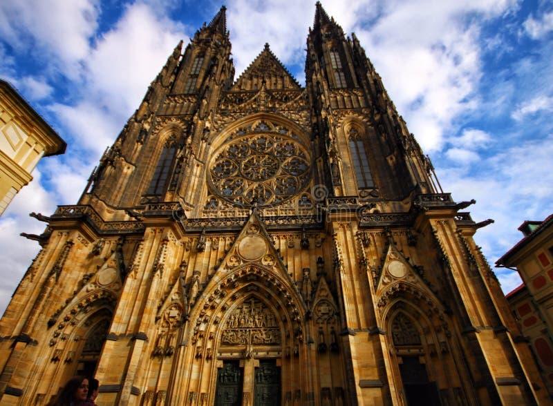 Die Heiliges Vitus-Kathedrale in Prag lizenzfreies stockfoto