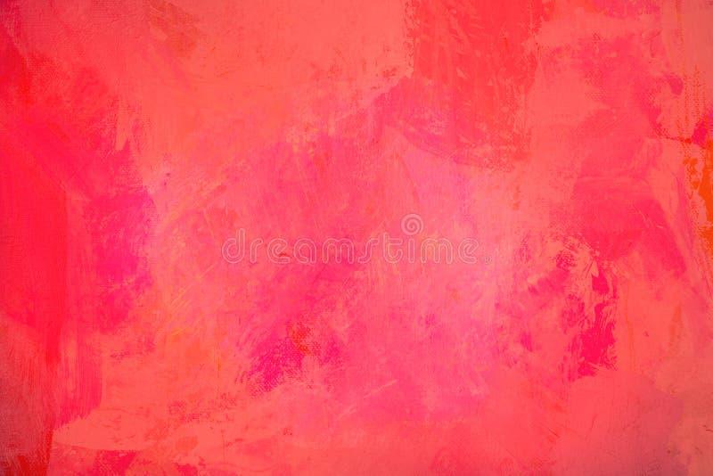 Die helle rote Oberfläche der Zusammenfassung hat eine Bürste, die auf dem Hintergrund für Grafikdesign gemalt wird stockfotos