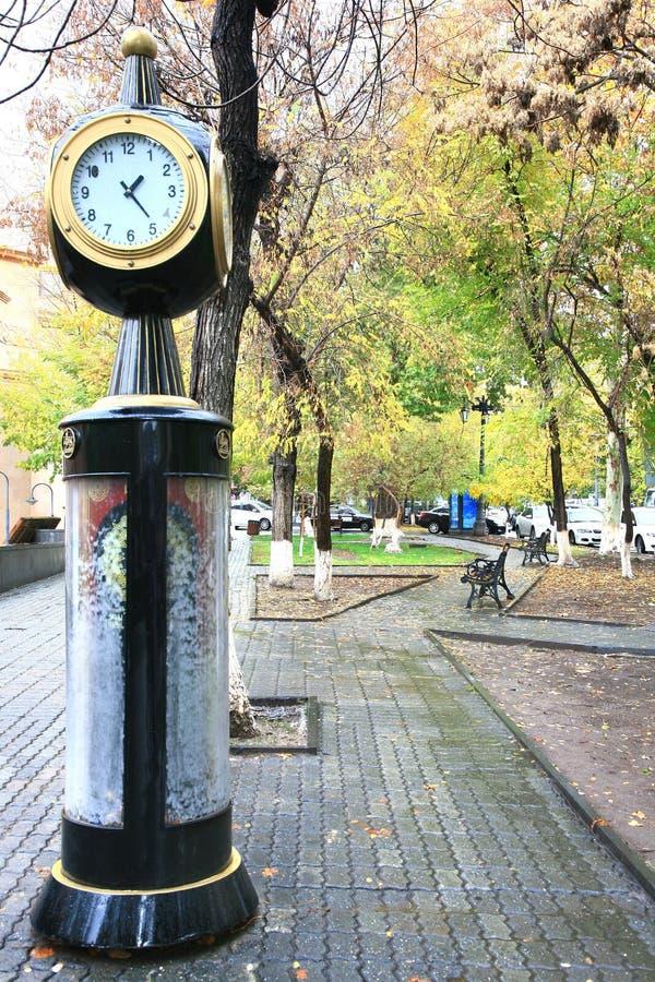 Die Herbstsaison in Eriwan-Stadt, Armenien stockbild