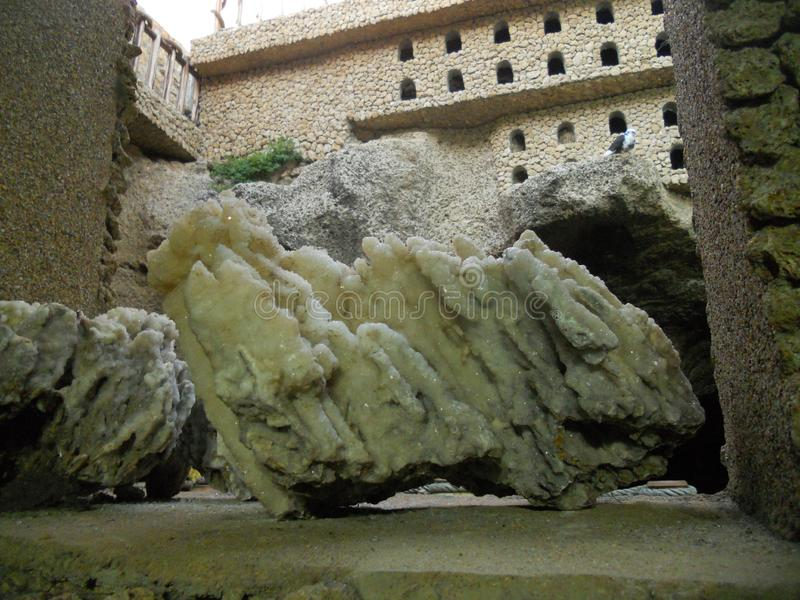 Die Herkules-Höhlen in Tanger Marokko lizenzfreies stockfoto