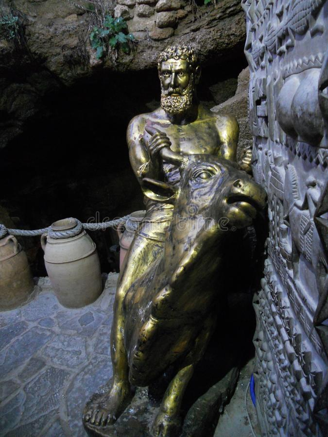 Die Herkules-Höhlen in Tanger Marokko stockbilder