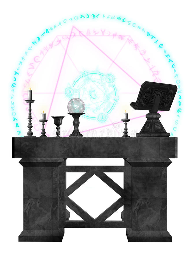 Die Hexe-Hilfsmittel stock abbildung
