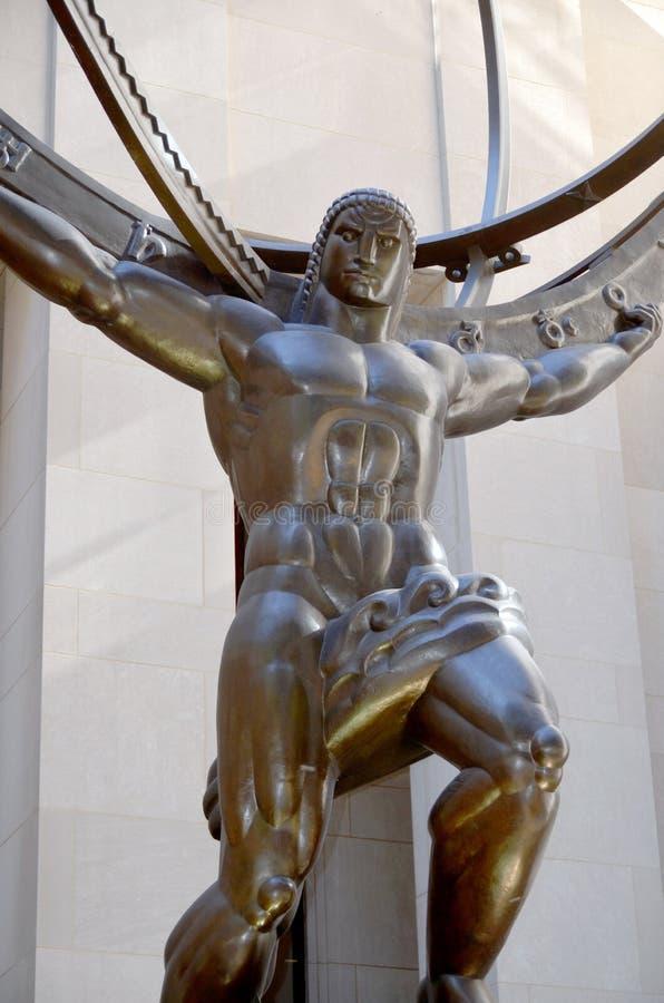 Die historische Atlas-Statue lizenzfreie stockbilder