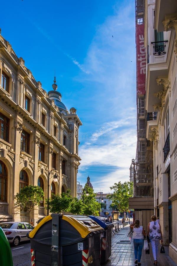 Die historische Mitte der Valencia-Stadt, Spanien stockfoto
