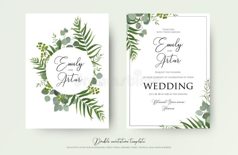 Die Hochzeits-Einladung, mit Blumen laden danken Ihnen, rsvp modernem Karte De ein lizenzfreie abbildung