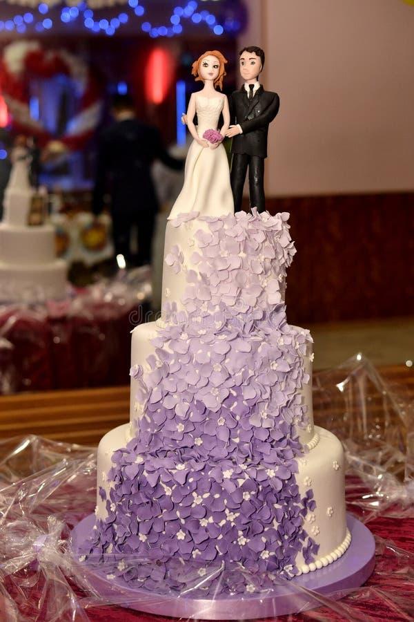 Die Hochzeitstorte stockfoto