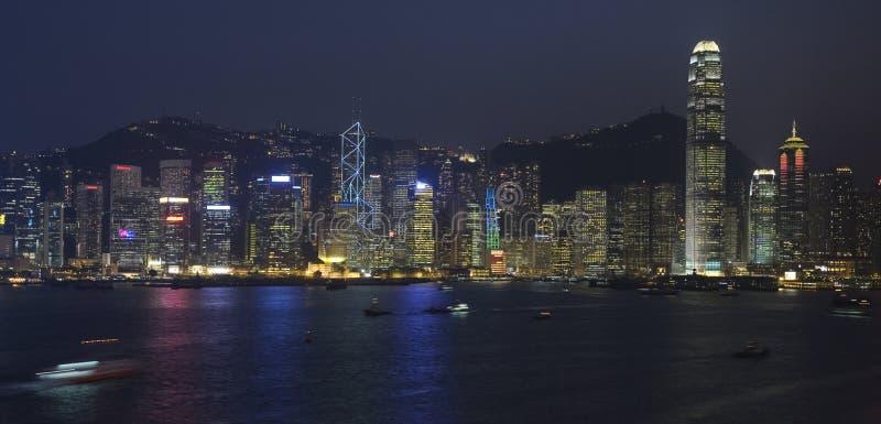 Die Hong- KongSkyline stockfotos
