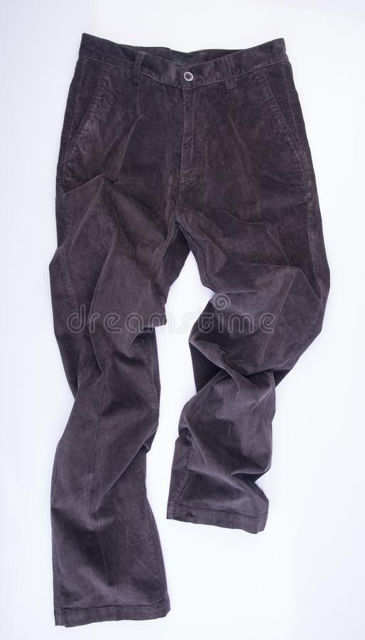 die Hose der Hose oder die Hosen der Männer auf einem Hintergrund stockfoto