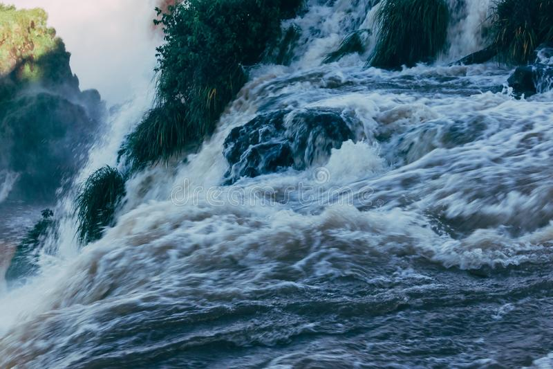 Die Igua?u-Wasserf?lle in Provinz Argentiniens Misiones lizenzfreies stockfoto