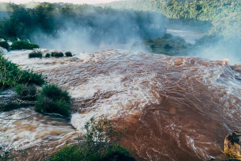 Die Igua?u-Wasserf?lle in Provinz Argentiniens Misiones stockfoto