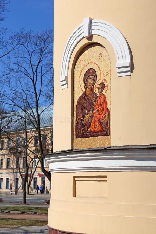 Die Ikone auf der Wand der Kapelle in St- Andrew` s Garten in Kro lizenzfreie stockfotografie