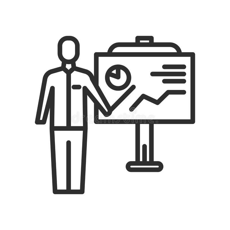 Die Ikone der grafischen Platte und des Mannes vector Zeichen und Symbol lokalisiert auf wh vektor abbildung
