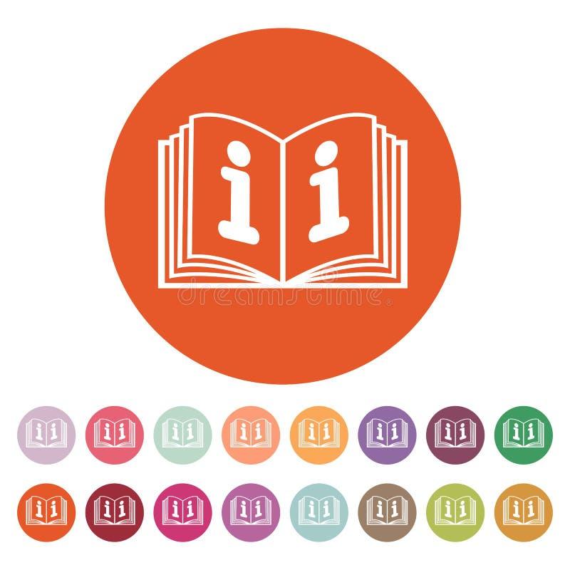 Die Ikone des offenen Buches Manuell und Tutor, Anweisung, Enzyklopädiensymbol flach vektor abbildung