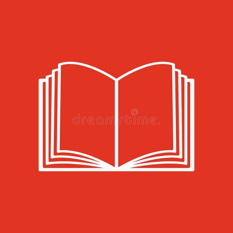 Die Ikone des offenen Buches Manuell und Tutor, Anweisungssymbol flach lizenzfreie abbildung