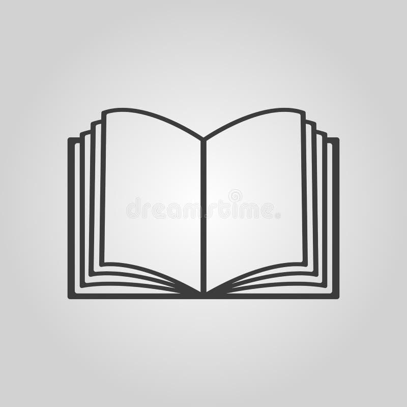 Die Ikone des offenen Buches Manuell und Tutor, Anweisungssymbol flach vektor abbildung