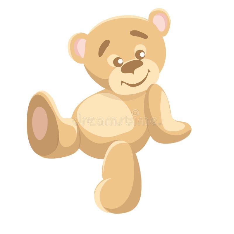 Die Illustration der Kinder von nachdenkliche Bären lizenzfreie abbildung