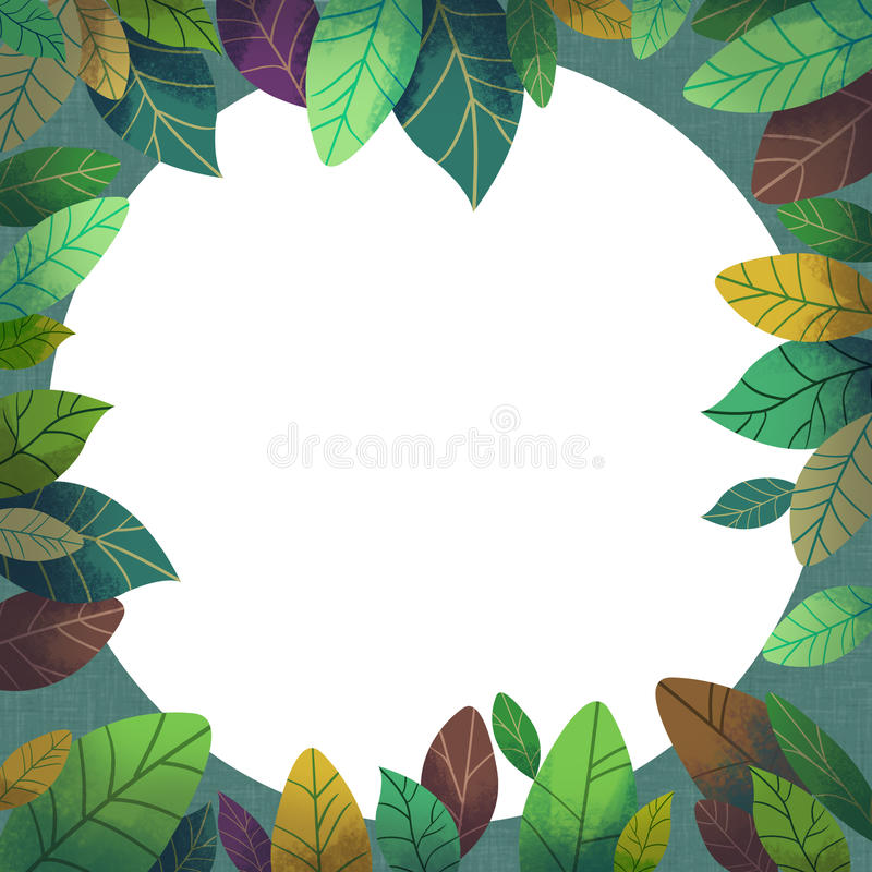 Die Illustration der Welt der Fantasie der Kinder: Geheimnis Forest Card stock abbildung