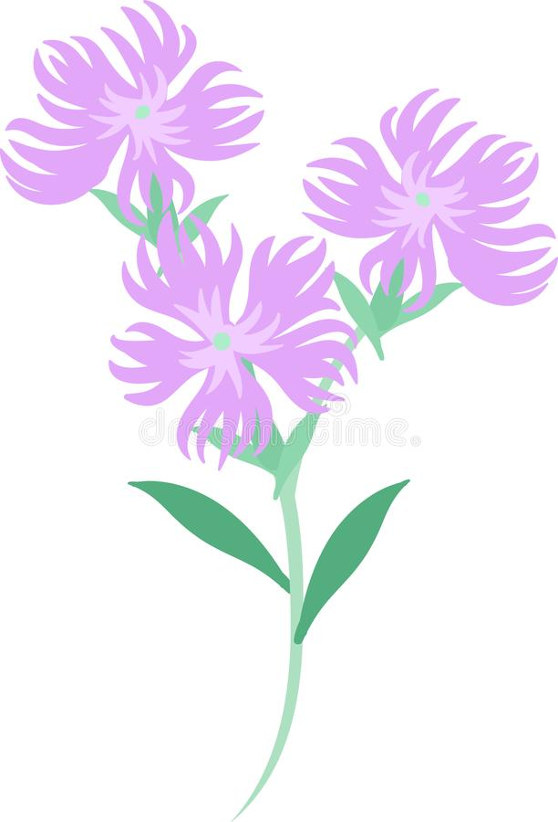 Die Illustration von Blumen vektor abbildung