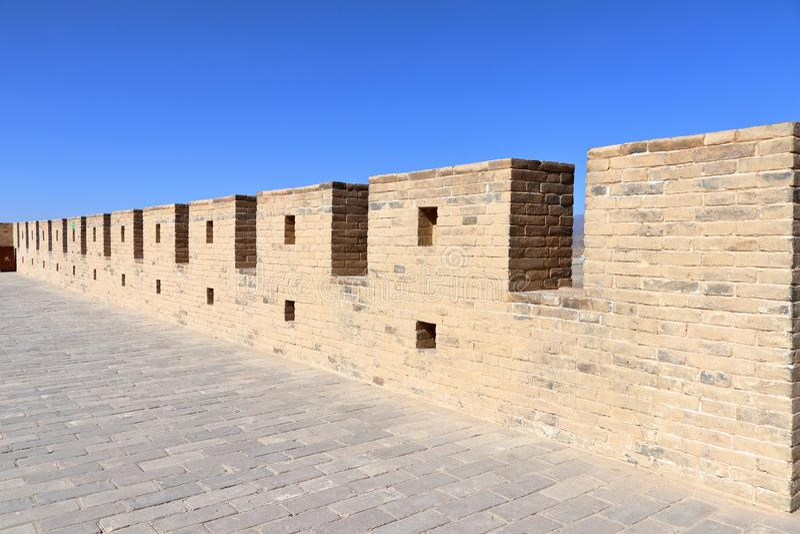 Die innere Wand von Jiayu-Durchlauf Jiyuguan lizenzfreies stockfoto
