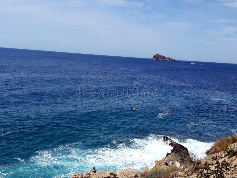 Die Insel von Benidorm lizenzfreies stockfoto
