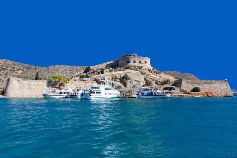 Download Die Inselfestung Von Spinalonga Stockbild - Bild von ziegelstein, europa: 27727263