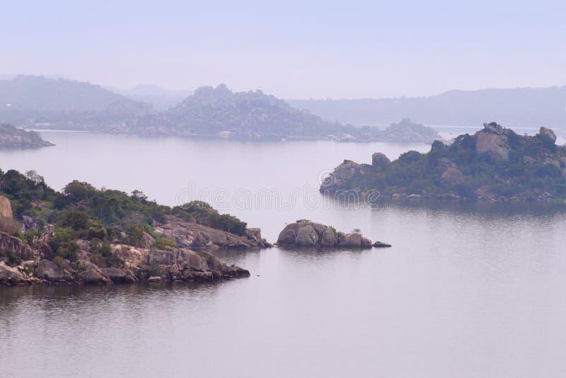 Die Inseln auf Victoria See nahe Mwanza-Stadt, Tansania lizenzfreie stockfotos